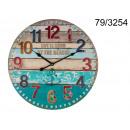 grossiste Horloges & Reveils:Horloge rétro en bois XL