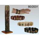 mayorista Joyas y relojes: Pulsera de madera motivos religiosos