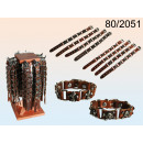 Großhandel Armbänder: Lederarmband mit Metallelementen