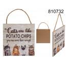 groothandel Woondecoratie: Decoratie om op te hangen Katten zijn als aardappe