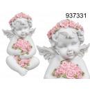 groothandel Figuren & beelden: Engel met een bloemenmotief