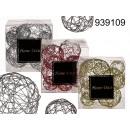 bolas de alambre decorativo