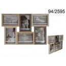 Wooden frame for 6 photos