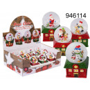Großhandel Schneekugeln: Schneeball-Figur Weihnachtshaus