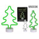 Lámpara de neón verde - árbol de navidad