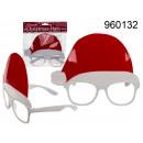 Glasses with Santa's hat