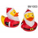 Bathing duck Santa Claus