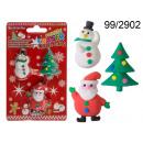 Großhandel Schulbedarf: Weihnachten Radiergummis (3 Stück)