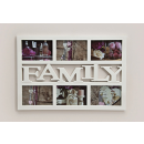 Frame for six photos with the word family