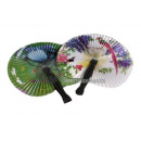 wholesale Costume Fashion: fan pattern 15cm plastic small