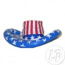 blue inflatable cowboy hat