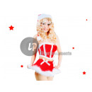 wholesale Skirts: Mother Christmas costume skirt with three bare sho