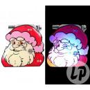 groothandel Kindermeubilair: badge / magneet led kerstman gezicht