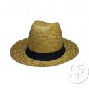 Großhandel Kopfbedeckung: Stil Panamahut Stroh mit schwarzer Band