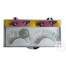 5.5cm false eyelashes silver