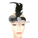 wholesale Beads & Charms: bandeau black feather hat