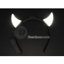 horns of the devil bright multicolored LEDs