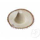 sombrero stro met natuurlijke pompon