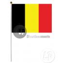 Belgische vlag met stok 30x45cm