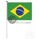 Bandiera Brasile con il bastone 30x45cm