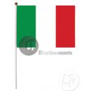 Italia Bandiera 30x45cm con il bastone