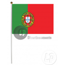 wholesale Gifts & Stationery: lot 12 flags portugal 15x22cm