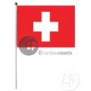 Bandiera svizzera con bastone 30x45cm
