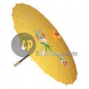 wholesale Costume Fashion: parasol diameter 82cm yellow tissue
