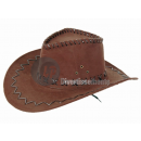 Cowboy hat imitation leather brown