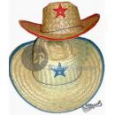 Cowboy strohoed met blauwe sterren