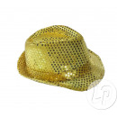 Großhandel Kopfbedeckung: Borsalino Fedora Gold Pailletten Hut
