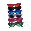 Großhandel Gläser: Retro Brille mit Glitzer-Mix