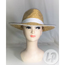 Straw hat headband and white border