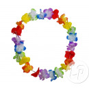 Tahiti flower necklace 60mm multicolor bow c