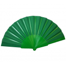 wholesale Costume Fashion: Color fan 22cm green plastic