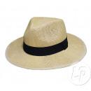 Panamahut mit beige Stirnband