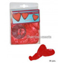 groothandel Ballen & clubs: veel 35 rode  hartjes ballonnen 20cm