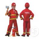 pompiere rosso formato del bambino costume 140 cen