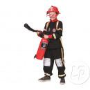 déguisement de pompier noir enfant taille 116cm