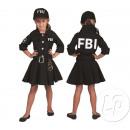 déguisement de policière f.b.i enfant taille 116cm