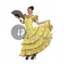 Großhandel Kleider: gelbes spanisches Kleid mit schwarzen Punkten ...