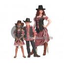 Cowgirl jelmez hosszú felnőtt ruha méret X