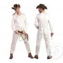 Großhandel Nachtwäsche: weißer Cowboy Pyjama Größe ml