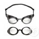 schwarze Steampunk-Brille