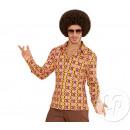 grossiste Chemises et chemisiers: chemise homme groovy années 70 taille s-m