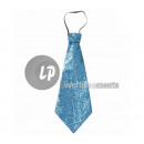 wholesale Ties:Tie lurex turquoise 40cm