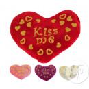coeur en peluche saint valentin kiss me  17cm