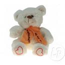 teddy beer zit met 20cm witte sjaal
