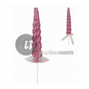 pink glitter unicorn horn with spike 27cm