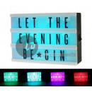 mayorista Mobiliario y accesorios oficina y comercio: Caja de luz led multicolor cine con lett.
